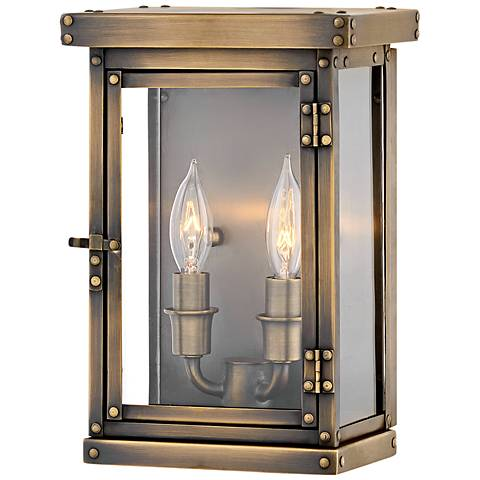 "Hamilton 10 1/2"" High Dark Antique Brass Outdoor Wall Light"