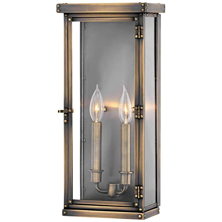 "Hamilton 18 1/4"" High Dark Antique Brass Outdoor Wall Light"