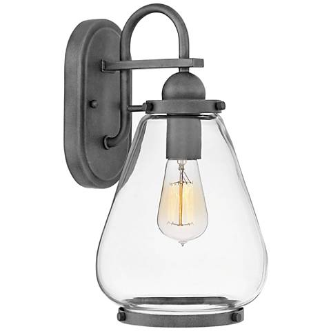 "Hinkley Finley 14 3/4"" High Aged Zinc Outdoor Wall Light"