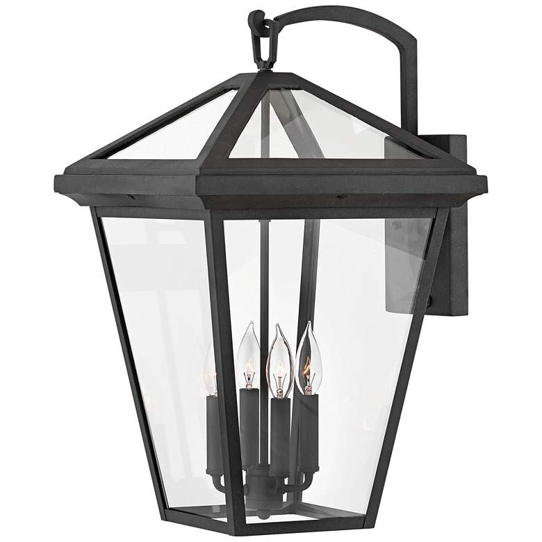 """Hinkley Alford Place 24""""H Museum Black Outdoor Wall Light"""