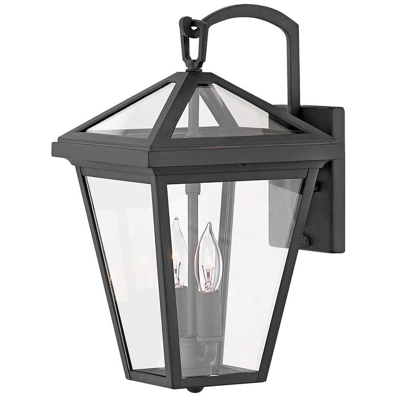 """Hinkley Alford Place 14""""H Museum Black Outdoor Wall Light"""