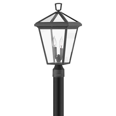 "Alford Place 20 1/4"" High Museum Black Outdoor Post Light"