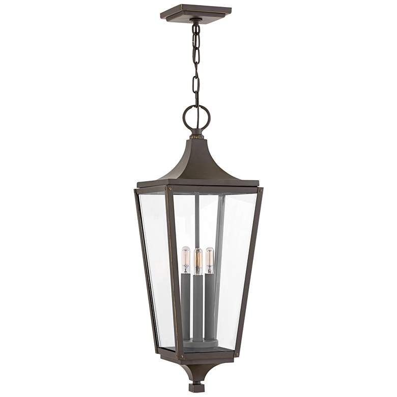 """Jaymes 26 1/4"""" High Oil-Rubbed Bronze Outdoor Hanging Light"""