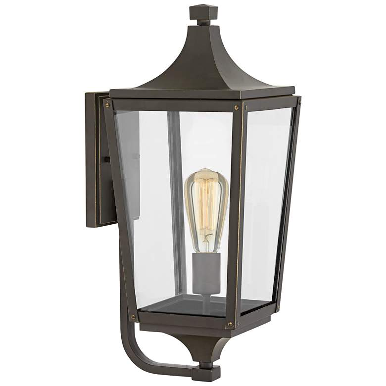 """Hinkley Jaymes 19 1/2""""H Oil-Rubbed Bronze Outdoor Wall Light"""