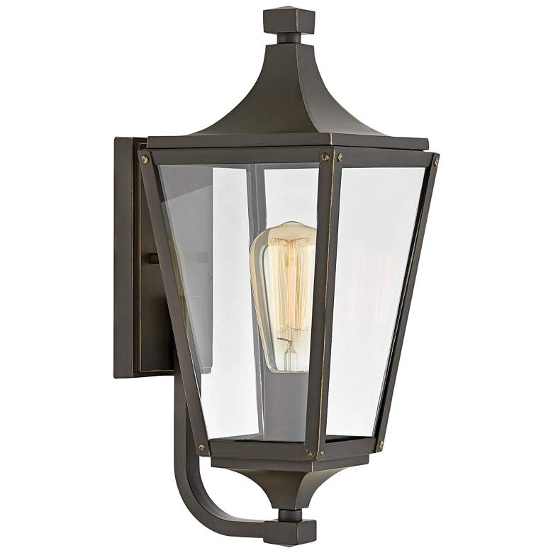 """Hinkley Jaymes 15 3/4""""H Oil-Rubbed Bronze Outdoor Wall Light"""