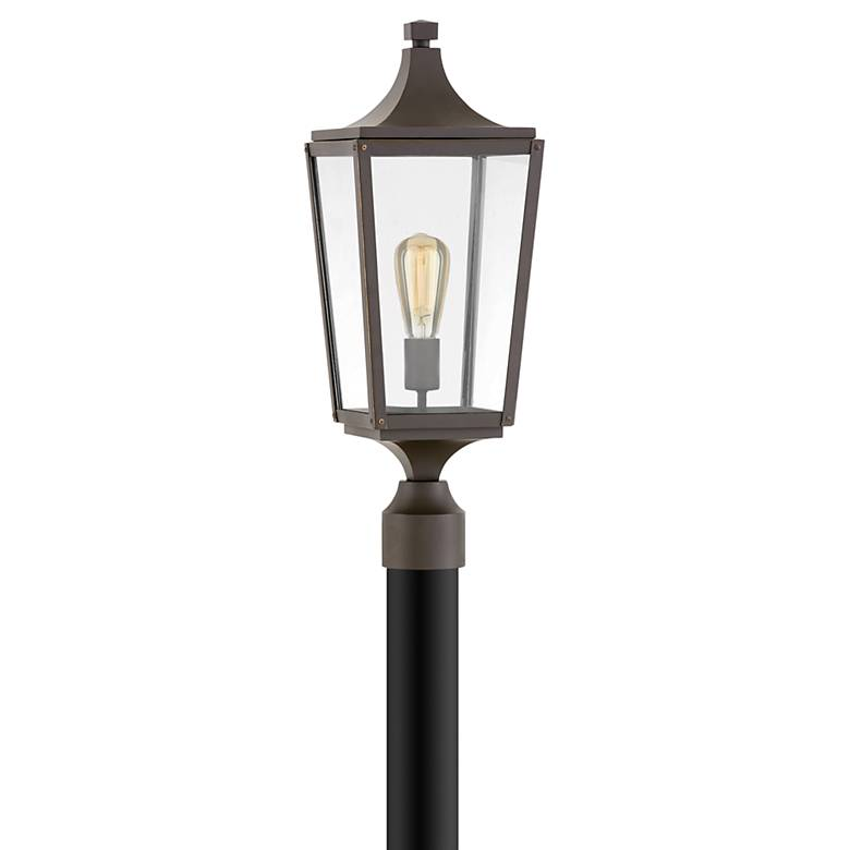 """Hinkley Jaymes 22 3/4""""H Oil-Rubbed Bronze Outdoor Post Light"""