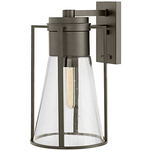 "Refinery 16 3/4"" High Oil-Rubbed Bronze Outdoor Wall Light"