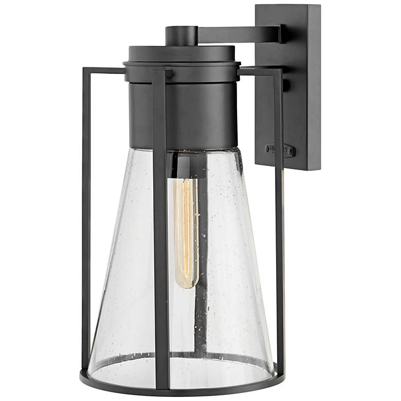 "Hinkley Refinery 16 3/4"" High Black Outdoor Wall Light"