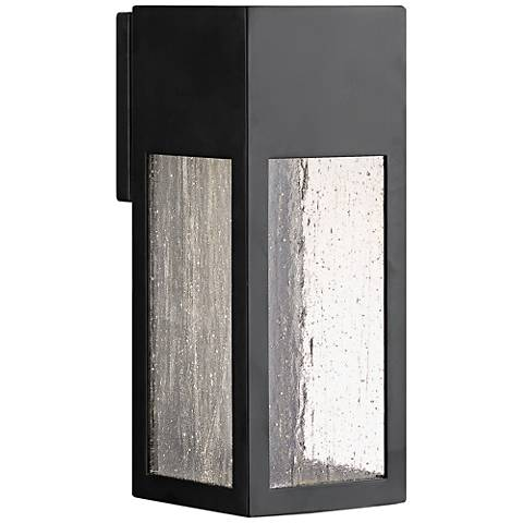 "Hinkley Rook 12"" High Satin Black Outdoor Wall Light"