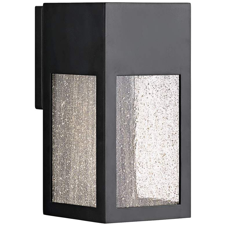 "Hinkley Rook 9 1/2"" High Satin Black LED Outdoor Wall Light"