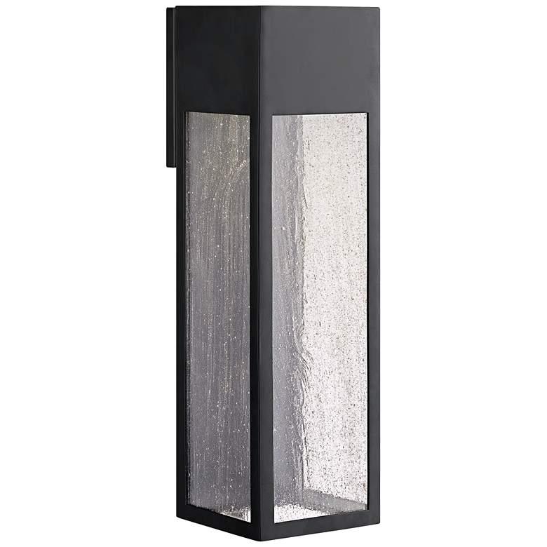 "Hinkley Rook 20"" High Satin Black LED Outdoor Wall Light"