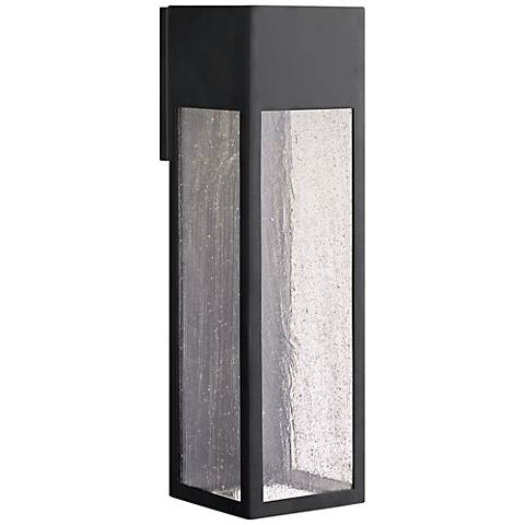 "Hinkley Rook 20"" High Satin Black LED Outdoor Wall Light"