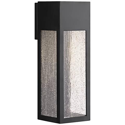 "Hinkley Rook 15"" High Satin Black Outdoor Wall Light"