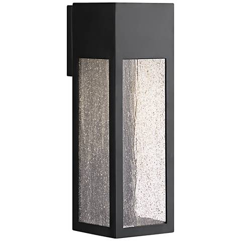 "Hinkley Rook 15"" High Satin Black LED Outdoor Wall Light"