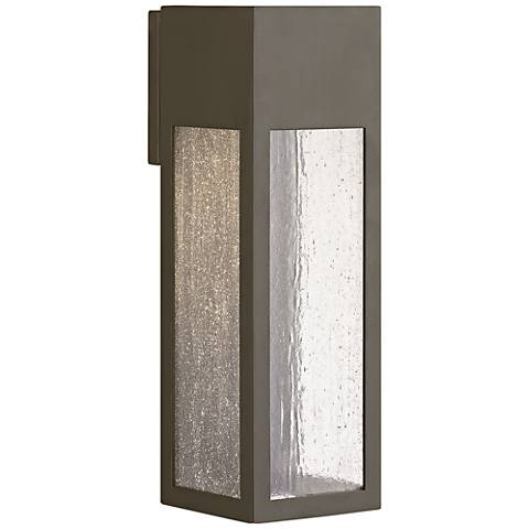 "Hinkley Rook 15"" High Bronze Outdoor Wall Light"