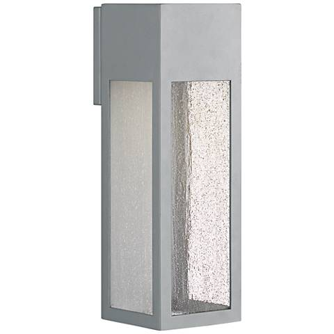 "Hinkley Rook 15"" High Titanium Outdoor Wall Light"