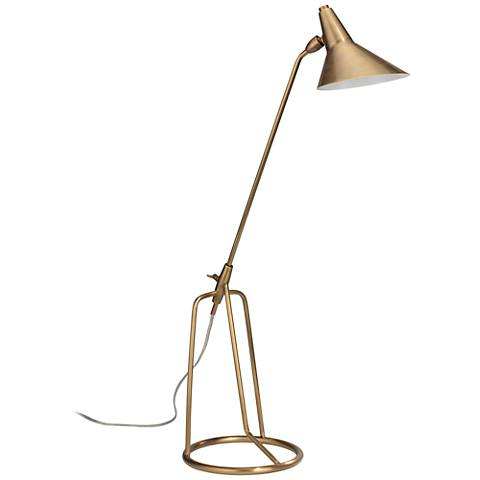Jamie Young Franco Antique Brass Tripod Desk Lamp