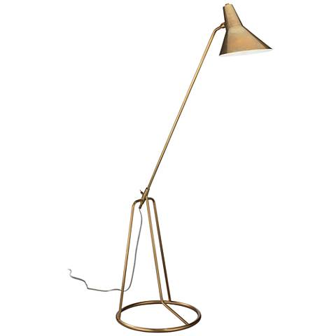 Jamie Young Franco Antique Brass Tripod Floor Lamp 44v38 Lamps Plus