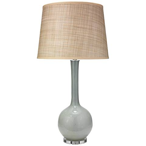 Jamie Young Florence Pale Blue Glass Table Lamp