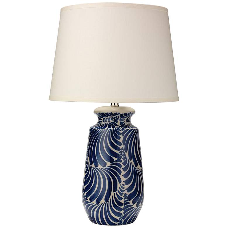 Jamie Young Santa Barbara Blue and White Ceramic Table Lamp