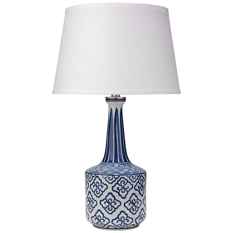 Jamie Young Tashi Blue and White Ceramic Table Lamp