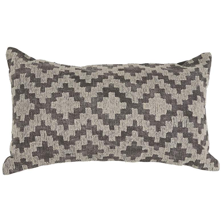 "Gray Scottsdale Lumbar 20"" x 12"" Throw Pillow"