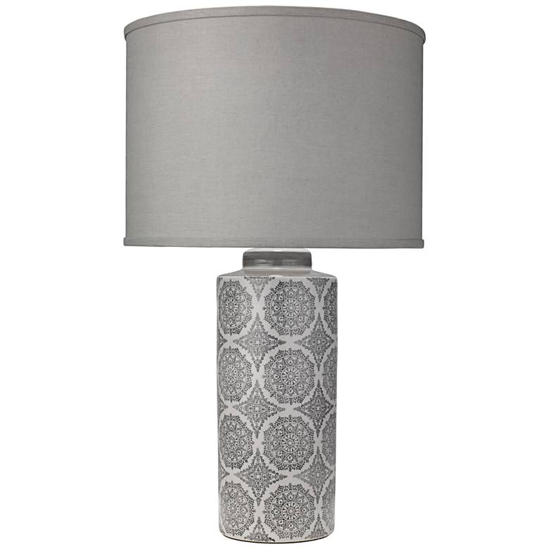 Jamie Young Calliope Gray Patterned Column Table Lamp