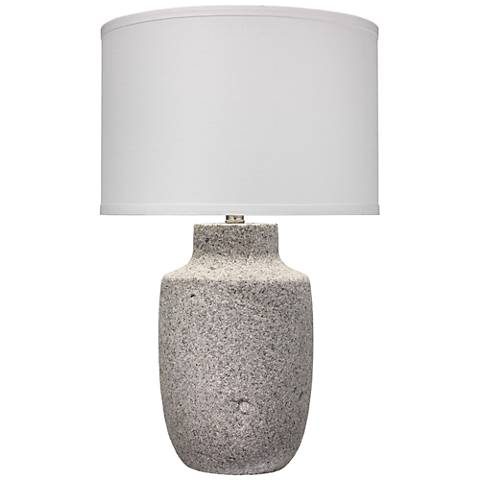 Jamie Young Gravel Gray Paper Clay Table Lamp