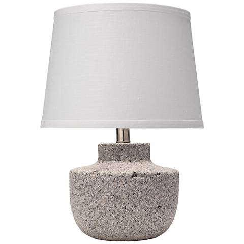 "Gravel 17"" High Gray Paper Clay Accent Table Lamp"