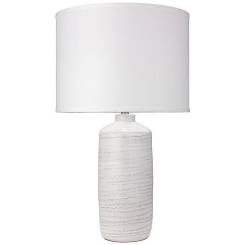 Jamie Young Trace White Ceramic Table Lamp