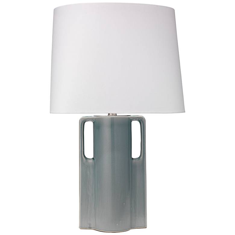 Jamie Young Woodstock Mist Blue Ceramic Table Lamp