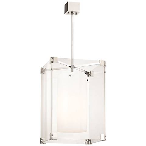 "Hudson Valley Achilles 18""W Polished Nickel Pendant Light"