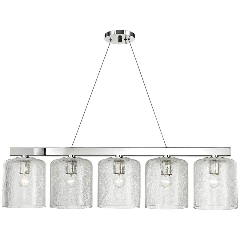 "Charles 40 1/2"" Wide Nickel Kitchen Island Light"