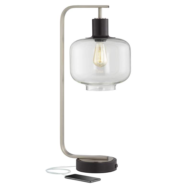 Franklin Iron Works Tobias Industrial Table Lamp