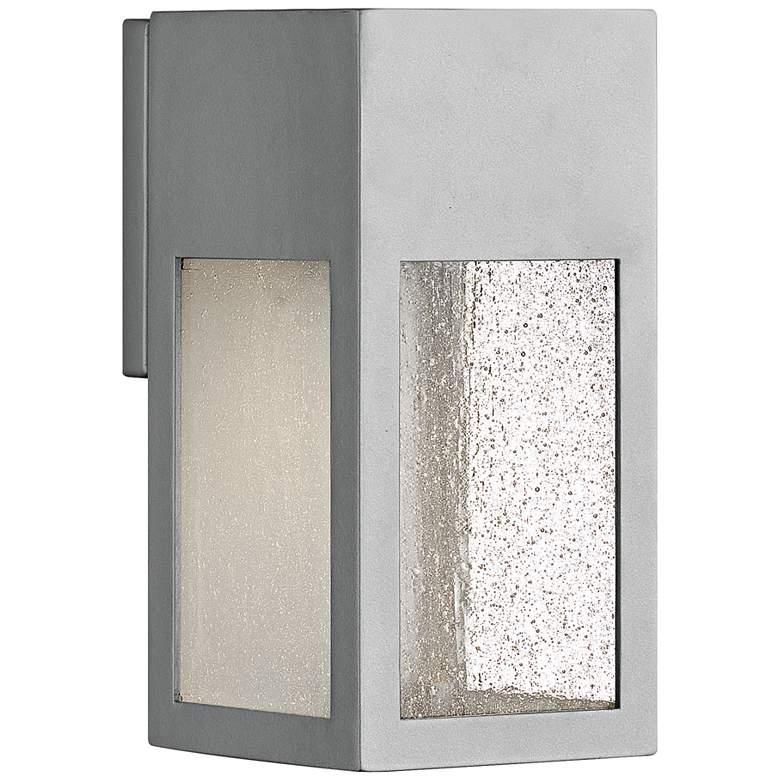 "Hinkley Rook 9 1/2"" High Titanium Outdoor Wall Light"