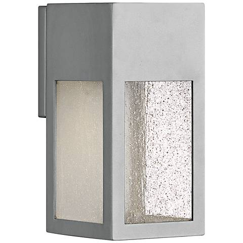 "Hinkley Rook 9 1/2"" High Titanium LED Outdoor Wall Light"