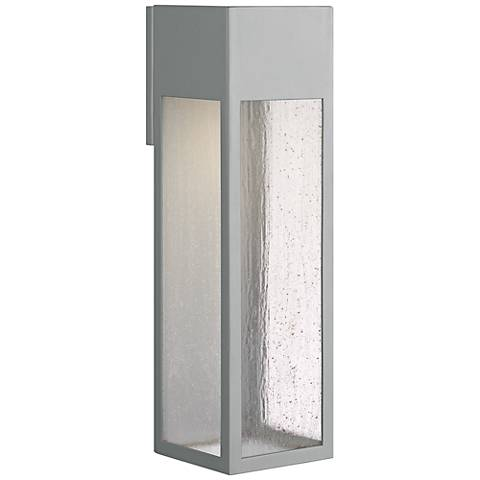 "Hinkley Rook 20"" High Titanium Outdoor Wall Light"
