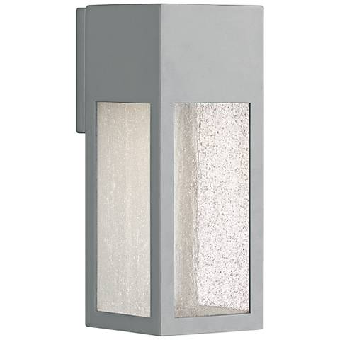 "Hinkley Rook 12"" High Titanium Outdoor Wall Light"