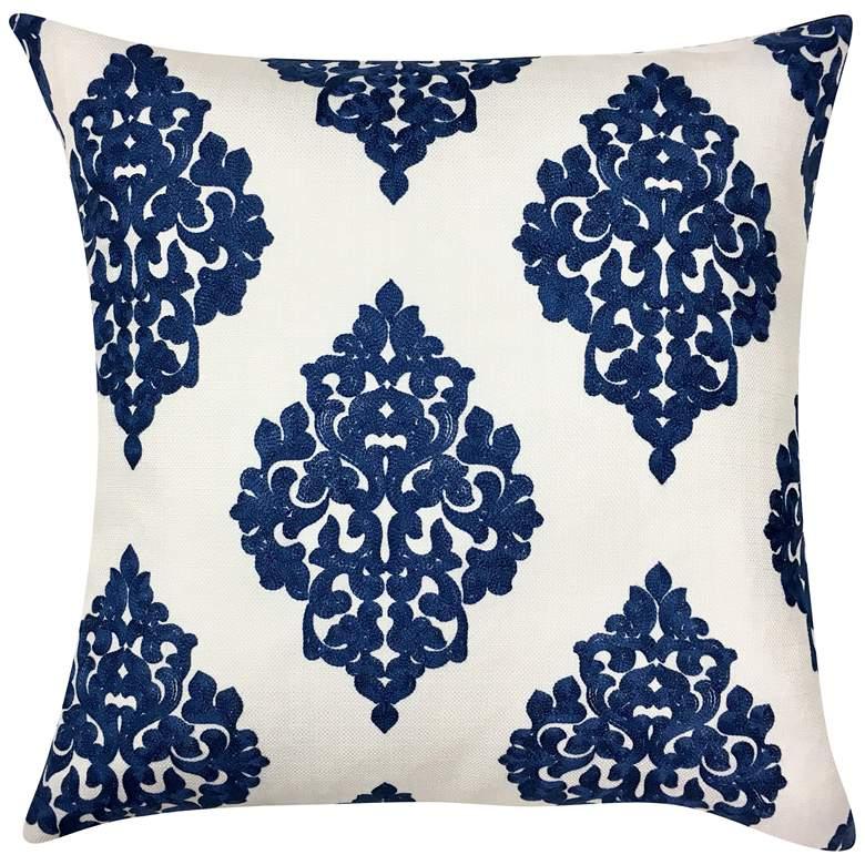 "Charlotte Blue Woven 20"" Square Decorative Pillow"