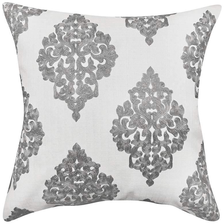 "Charlotte Slate Woven 20"" Square Decorative Pillow"