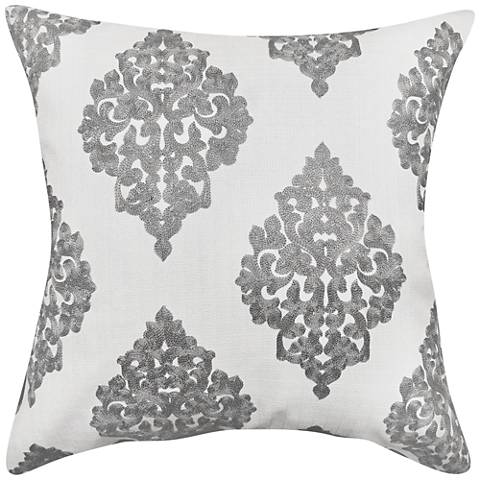 "Charlotte Slate Woven 20"" Square Decorative Pillow"