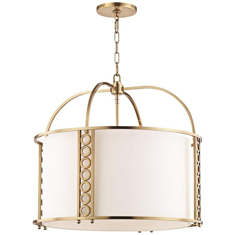 "Hudson Valley Infinity 24"" Wide Aged Brass Pendant Light"