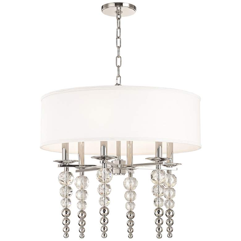 "Hudson Valley Persis 24""W Polished Nickel 6-Light Pendant"