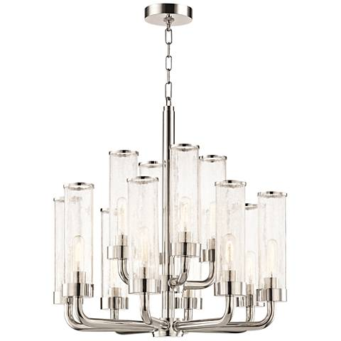 "Soriano 26 1/4"" Wide Polished Nickel 12-Light Chandelier"