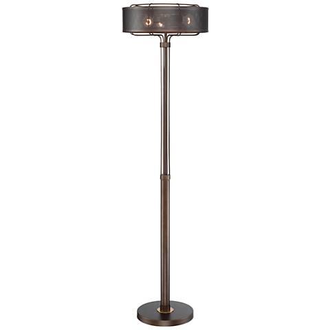 Franklin Iron Works Ballantine 3-Light Industrial Floor Lamp