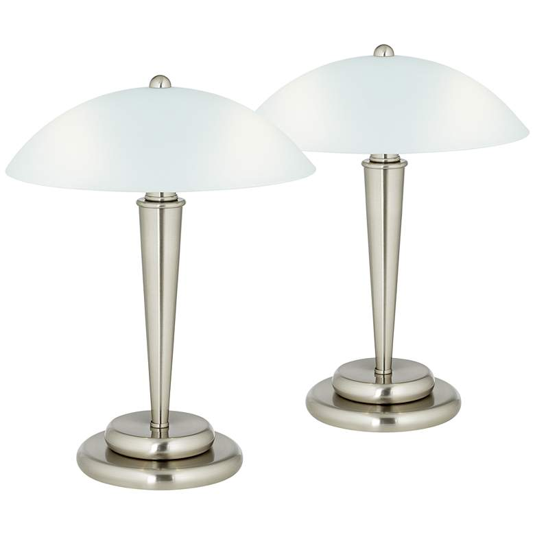 """Deco Dome 17"""" High Touch On-Off Accent Lamps - Set of 2"""