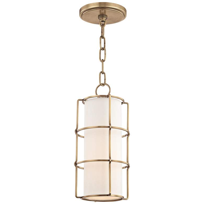 "Hudson Valley Sovereign 7"" Wide Aged Brass LED Mini Pendant"
