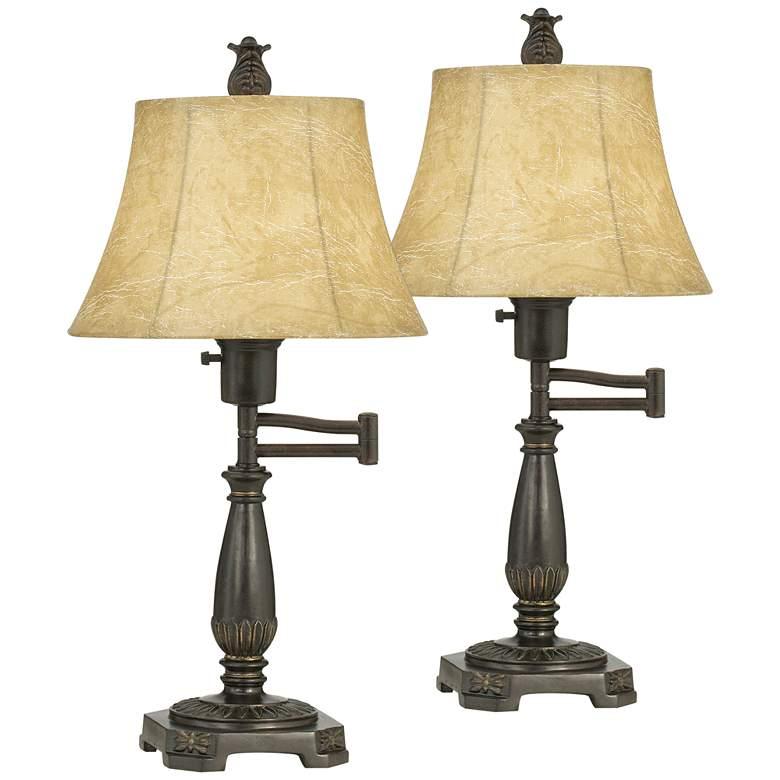 Bronze Finish Swing Arm Lamps by Regency Hill