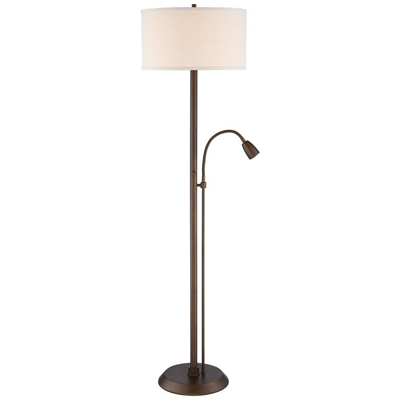 Traverse Floor Lamp with Gooseneck Reading Arm Bronze