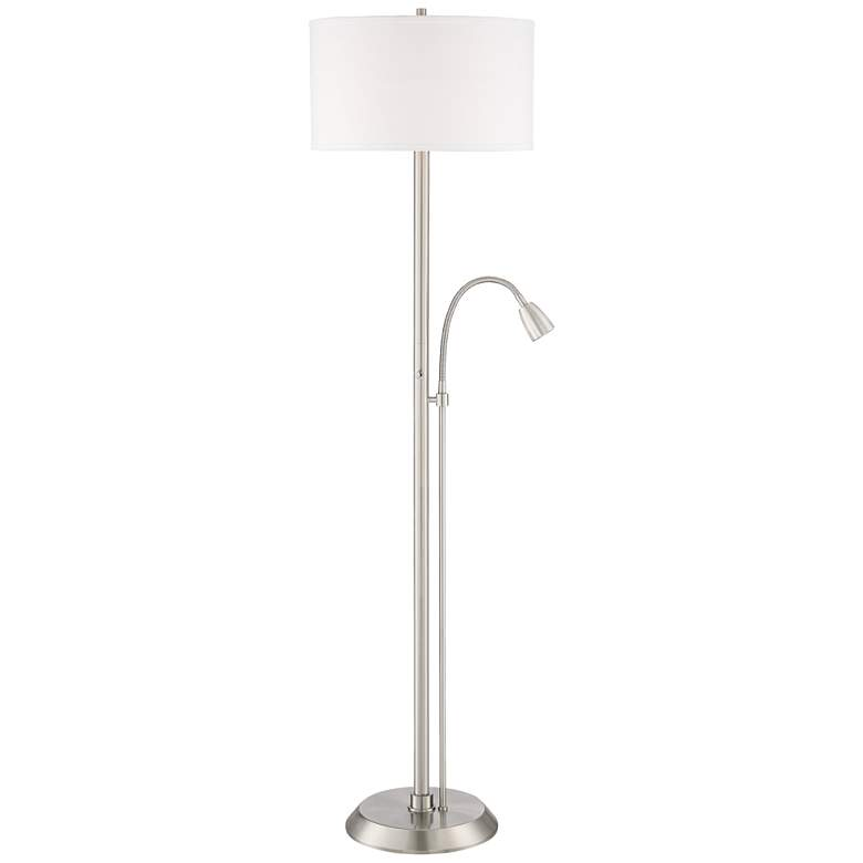 Traverse Floor Lamp with Gooseneck Reading Arm Nickel